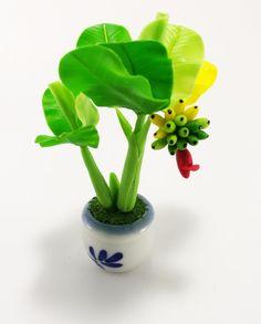 New Handmade Banana Tree Flower Dollhouse Miniatures  Garden Plant Pot   | eBay