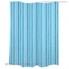 "Laroom - Cortina baño ""trazos"" azul polyester - Laroom diseña los productos para Baño más bonitos del mundo - www.laroom.com Curtains, Shower, The World, Bathroom Window Curtains, Products, Blue Nails, Interiors, Rain Shower Heads, Showers"
