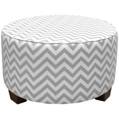 chevron, round ottoman. fabric to use: Flatiron Grey - http://www.tonicliving.com/Flatiron-Grey-P2171.aspx- I think I want to recover our glider in this fabric!