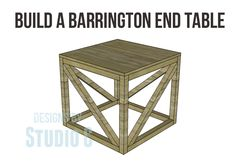 The Barrington End Table - an excellent first project!