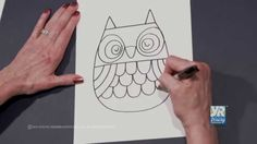 How well can you draw this owl! Click on the image and try with this easy How to Draw Video!