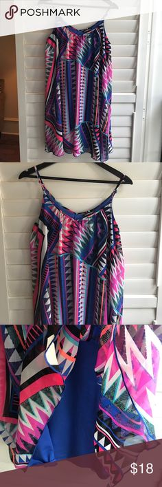 Express Trapeze Dress Beautiful trapeze dress by Express. Comfortable and flowy! Lined underneath. Express Dresses