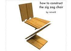 Resultado de imagen para silla zig zag medidas