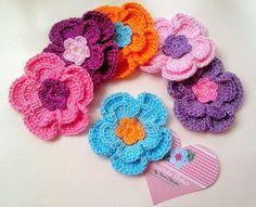 Cute flowers with graphic! - Artesanatos e croche