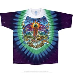 Grateful Dead Tie Dye T Shirt - Watchtower – Blue Mountain Dyes - Free Shipping over $10