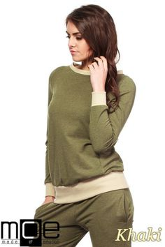 Gładka bluzka dresowa posiadająca ściągacz przy pasie marki MOE.  #cudmoda #moda #styl #ubrania #odzież #bluzka #bluza #clothes