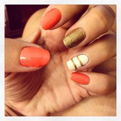 Nails done by me at home