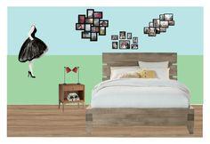 """my future bedroom"" by valentina-luza-toledojb on Polyvore featuring interior, interiors, interior design, hogar, home decor, interior decorating, Lights Up!, Adeco y bedroom"