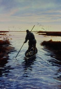 Good Morning duck hunting painting by Brett J Smith, brettsmith.com