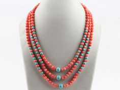Three strand coral and turquoise necklace: http://www.aypearl.com/wholesale-coral-jewelry/wholesale-jewellery-X2346.html