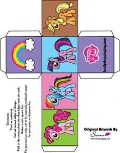 {free} printable My Little Pony Favor Box