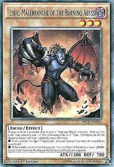 Original Konami YuGiOh Trading Card aus Secrets of Eternity.  SECE-EN083  Libic, Malebranche of the Burning Abyss (Libic, Grimmetatze des Brennenden Abgrunds)  Seltenheit: Rare - 1st Edition  GBA-Code: 62957424 | Jetzt günstig bei eBay kaufen!