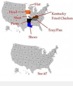 Have You Seen the Image of a Chef Holding Chicken in a Map of the United States [Image]