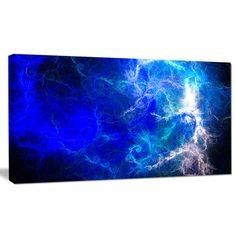 FREE SHIPPING! Shop Wayfair.ca for Design Art 'Blue Sparkling Lightning' Graphic Art on Wrapped Canvas - Great Deals on all  products with the best selection to choose from!