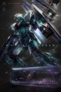 NU Gundam (Char's Counterattack) by Yutori Clockwork Chicken Arte Gundam, Gundam Wing, Gundam Art, Anime Couples Manga, Cute Anime Couples, Anime Girls, Macross Valkyrie, Gundam Wallpapers, Gundam Mobile Suit
