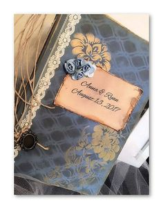Hey, I found this really awesome Etsy listing at https://www.etsy.com/listing/548465893/floral-blue-wedding-sign-in-book-journal