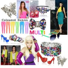 """Multi Coloured Accessories,Shoes and Jewellery by Lemonade"" by lovelemonade on Polyvore"
