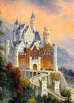 Cross stitch chart - Castle- holy mother of god that is amazing neuschwanstein