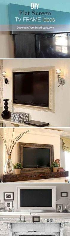 Mettez votre écran plat en valeur avec un cadre à moulures.