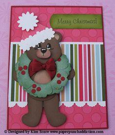 Paper Punch Addiction: Christmas Bear by Kim Score