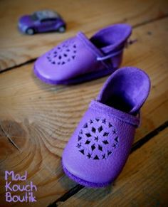 Purple summer slippers - Eco leather slippers by Madkouch - www.madkouch.com
