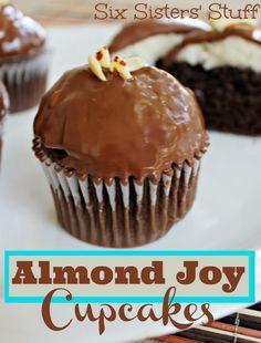 Almond Joy Cupcakes .