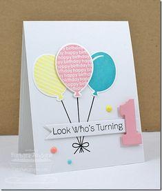 CAS birthday balloon card - bjl