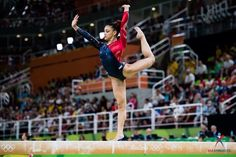 Laurie Hernandez on Beam at the 2016 Rio Olympics