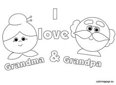Grandparents day coloring page … | Grandpar…