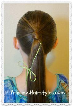 Waterfall Twist Braid With Ribbon