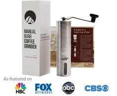 JavaPresse Manual Coffee Grinder with Adjustable Setting - Conical Burr Mill & Brushed Stainless Steel Whole Bean Burr Coffee Grinder for Aeropress, Drip Coffee, Espresso, French Press, Turkish Brew Best Coffee Grinder, Manual Coffee Grinder, Coffee Maker, Coffee Grinders, Joe Coffee, Drip Coffee, Espresso Machine Reviews, Ground Coffee Beans, Coffee Tables For Sale