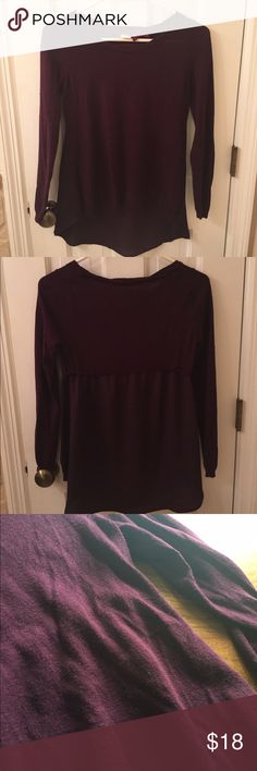 Anthropologie Maroon Top This is a maroon top from Anthropolgie with a portion of the back made of chiffon. This is clearly very nice quality in good condition and has no visible wear. Feel free to make an offer lovelies! Anthropologie Tops Blouses