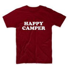 Happy Camper Tshirt Unisex Graphic Tshirt Adult Tshirt by FASHIONY