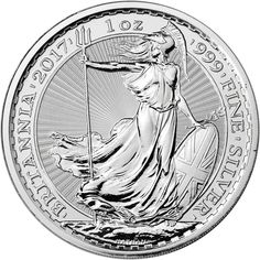 2017 UK Great Britain Silver Britannia 1 oz Brilliant Uncirculated Royal Mint at Amazon's Collectible Coins Store