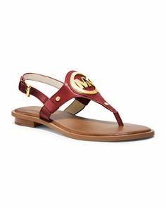 MICHAEL Michael Kors  Aubrey Logo Thong Sandal.