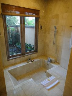 bathrooms with sunken bathtubs