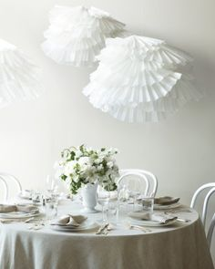 """See the """"Pleated Poufs"""" in our Paper Wedding Decoration Projects gallery"""
