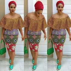 Do you like off Shoulder Ankara Short gown styles? Here are the lovely collection of Ankara off-shoulder gown styles for you to rock upcoming party this month. Latest Ankara Gown, Ankara Short Gown Styles, Trendy Ankara Styles, Ankara Gowns, Short Gowns, Dress Styles, African Tops, African Dresses For Women, African Women