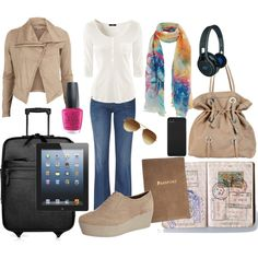 Travel Outfit by rusty888 on Polyvore featuring Object Collectors Item, H&M, Gucci, Vagabond, Marni, Burberry, SMS Audio, Incase, Ray-Ban and OPI