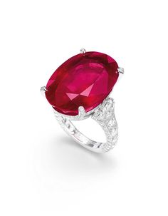 An oval Burmese ruby and diamond ring was sold for US$7,338,462 million, making it the most expensive ruby ever sold at auction.