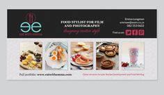 Eat with Emma Promotional Flyer Identity, Promotional Flyers, Portfolio Design, Wordpress, Ads, Creative, Poster, Food, Portfolio Design Layouts