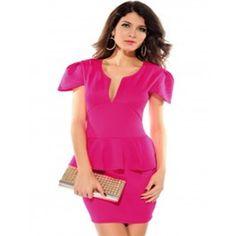 Sexy deep V-sleeved thin package hip nightclub dress prom dress Dear-love-LC2774