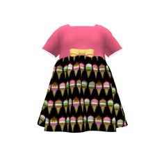 Puperita Hula Hoop Dress made with Spoonflower designs on Sprout Patterns. Ice cream Girls dress