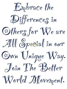 #KJACDesigns #Cafepress #GiftShop Embrace the Differences #BetterWorldMovement #Motivational & #inspirational #Gifts for #Family #Friends #Groups #Teams #Schools or #Companies Find it at http://www.cafepress.com/dd/94483500 via @cafepressinc