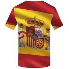 KYKU Brand Spanish flag T shirt Spain T shirt hip hop t shirt men summer shirt. Click visit to buy #T-Shirts