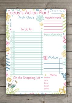 Modern Printable Grocery List And Meal Plan Pdf By Andisprints