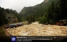 flood in loveland colorado | Flooding has destroyed roads near St Vrain Creek up the road from # ...