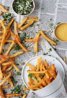 These homemade french fries are what dreams are made of. Try this #Lemon and #Herb spin on pomme frites.