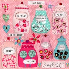 sweet shop decor - cute picture for her AG sweet shop!