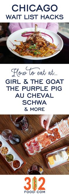 Wait List Hacks: the best way to eat at Chicago's busiest spots - Girl & The Goat The Purple Pig Au Cheval Schwa and more! via Wait List Hacks: the best way to eat at Chicago's busiest spots - Girl & The Goat The Purple Pig Au Cheval Schwa and more! Chicago Travel, Chicago City, Chicago Trip, Chicago Airport, Chicago Lake, Usa Travel, Chicago Things To Do, My Kind Of Town, Trip Planning